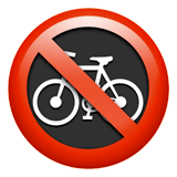 No Bicycles Emoji on Apple macOS and iOS iPhones