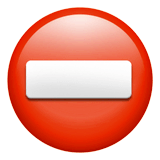No Entry Emoji on Apple macOS and iOS iPhones