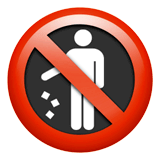 No Littering Emoji on Apple macOS and iOS iPhones
