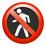 No Pedestrians Emoji on Apple macOS and iOS iPhones
