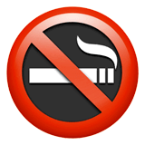 No Smoking Emoji on Apple macOS and iOS iPhones