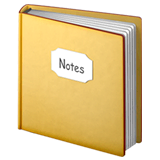 Notebook With Decorative Cover Emoji on Apple macOS and iOS iPhones