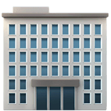 Office Building Emoji on Apple macOS and iOS iPhones