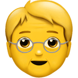 Older Person Emoji on Apple macOS and iOS iPhones