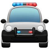 Oncoming Police Car Emoji on Apple macOS and iOS iPhones
