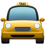 Oncoming Taxi Emoji on Apple macOS and iOS iPhones