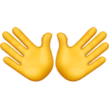 Open Hands Emoji on Apple macOS and iOS iPhones