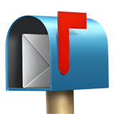 Open Mailbox With Raised Flag Emoji on Apple macOS and iOS iPhones
