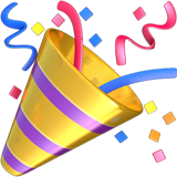 Party Popper Emoji on Apple macOS and iOS iPhones