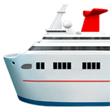 Passenger Ship Emoji on Apple macOS and iOS iPhones