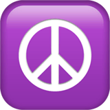 Peace Symbol Emoji on Apple macOS and iOS iPhones