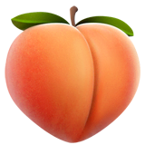 Peach Emoji on Apple macOS and iOS iPhones