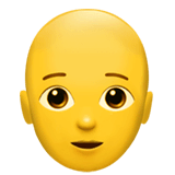 Person: Bald Emoji on Apple macOS and iOS iPhones