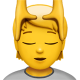 Person Getting Massage Emoji on Apple macOS and iOS iPhones