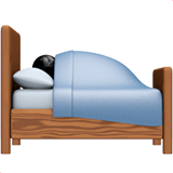 Person in Bed Emoji on Apple macOS and iOS iPhones