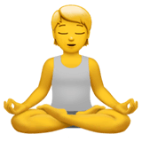 Person In Lotus Position Emoji on Apple macOS and iOS iPhones