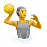 Person Playing Water Polo Emoji on Apple macOS and iOS iPhones