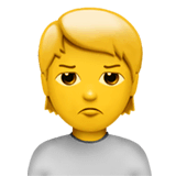 Person Pouting Emoji on Apple macOS and iOS iPhones