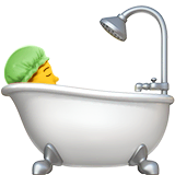 Person Taking Bath Emoji on Apple macOS and iOS iPhones