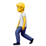 Person Walking Emoji on Apple macOS and iOS iPhones