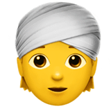 Person Wearing Turban Emoji on Apple macOS and iOS iPhones