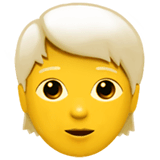 Person: White Hair Emoji on Apple macOS and iOS iPhones