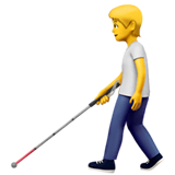 Person With White Cane Emoji on Apple macOS and iOS iPhones