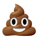 Pile of Poo Emoji on Apple macOS and iOS iPhones