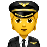 Pilot Emoji on Apple macOS and iOS iPhones