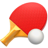 Ping Pong Emoji on Apple macOS and iOS iPhones