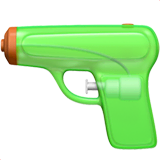 Pistol Emoji on Apple macOS and iOS iPhones