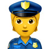 Police Officer Emoji on Apple macOS and iOS iPhones