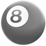 Pool 8 Ball Emoji on Apple macOS and iOS iPhones