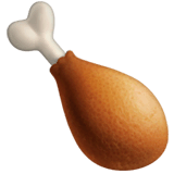 Poultry Leg Emoji on Apple macOS and iOS iPhones