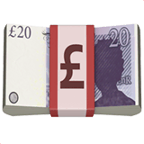 Pound Banknote Emoji on Apple macOS and iOS iPhones
