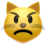 Pouting Cat Emoji on Apple macOS and iOS iPhones