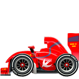 Racing Car Emoji on Apple macOS and iOS iPhones