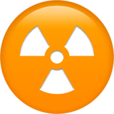 Radioactive Emoji on Apple macOS and iOS iPhones