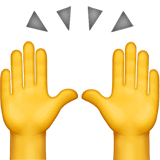 Raising Hands Emoji on Apple macOS and iOS iPhones