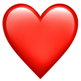 Red Heart Emoji on Apple macOS and iOS iPhones