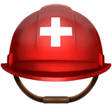 Rescue Worker's Helmet Emoji on Apple macOS and iOS iPhones