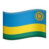 Flag: Rwanda Emoji on Apple macOS and iOS iPhones