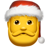 Santa Claus Emoji on Apple macOS and iOS iPhones