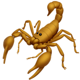 Scorpion Emoji on Apple macOS and iOS iPhones