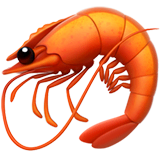 Shrimp Emoji on Apple macOS and iOS iPhones