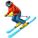 Skier Emoji on Apple macOS and iOS iPhones