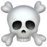Skull and Crossbones Emoji on Apple macOS and iOS iPhones