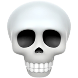 Skull Emoji on Apple macOS and iOS iPhones