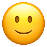 Slightly Smiling Face Emoji on Apple macOS and iOS iPhones