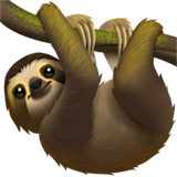 Sloth Emoji on Apple macOS and iOS iPhones